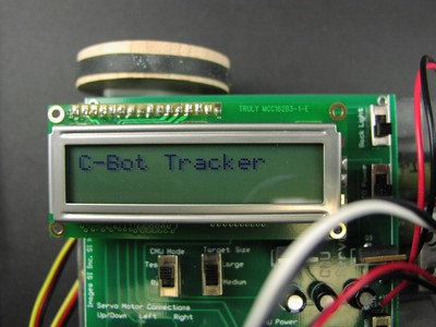 C-Bot Tracker on LCD