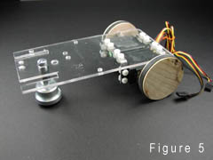 Chassis with  drive servomotors and caster