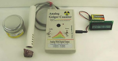 The DMAD Expansion Module Set up with an Images Geiger Counter