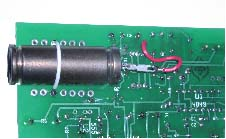 Figure 9 - Detail showing GM tube secured on PCB