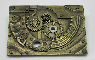 Front Plate Steampunk Geiger Counter