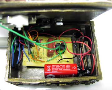 Installed Steampunk Geiger Counter