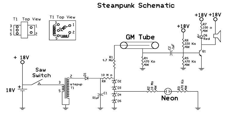 Schematic Steampunk Geiger Counter