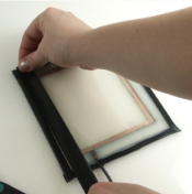Figure 19 - Wrap Tape Around Glass to Cover from Edge to Copper