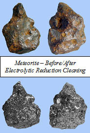 Meteorite Electrolysis