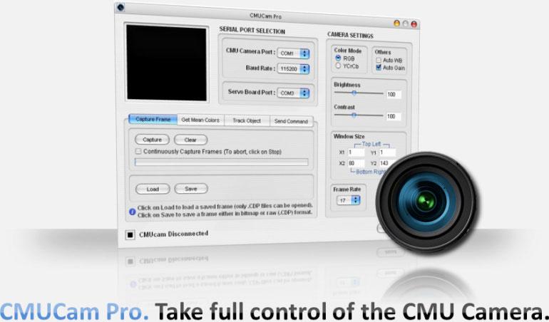 CMUCam Pro. Take full control of the CMU Camera.