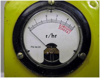 Civil Defense Meter CDV-715 Rad Meter Close-up