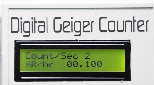 Digital Geiger Counter : Digital geiger counter gca