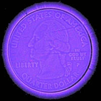 coin-shot with transparent discharge plate digital camera