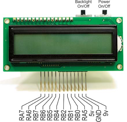 16F88 Project Board Pinout