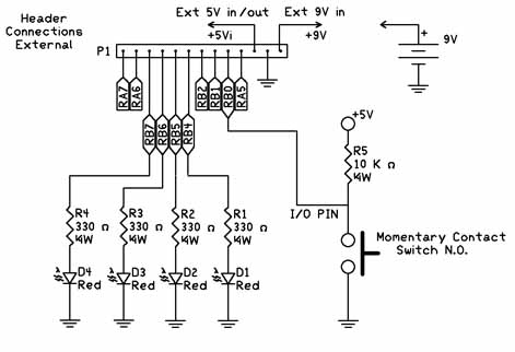 binary counting circuit with switch