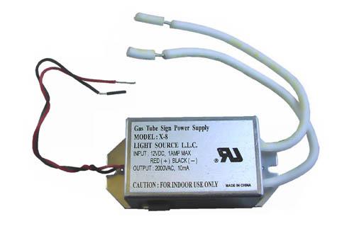 supply power Gas midget tube sign