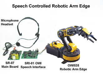 Speech Controlled Robotic Arm Edge (OWI535)